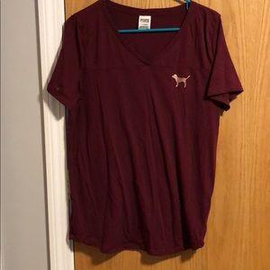 V neck PINK t shirt